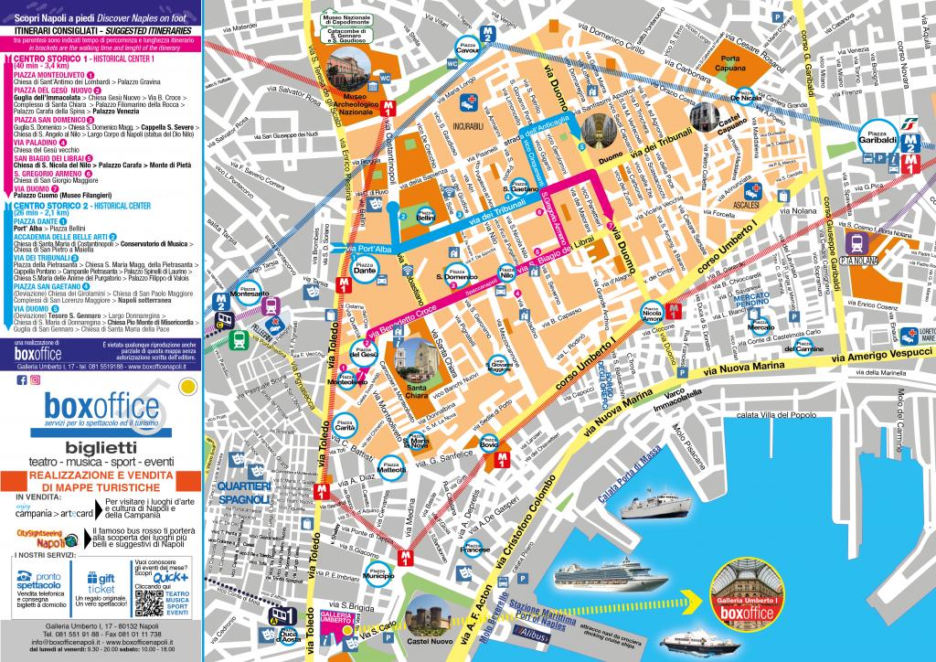 Cartina Napoli Da Stampare.Napoli Centro Storico Mappa
