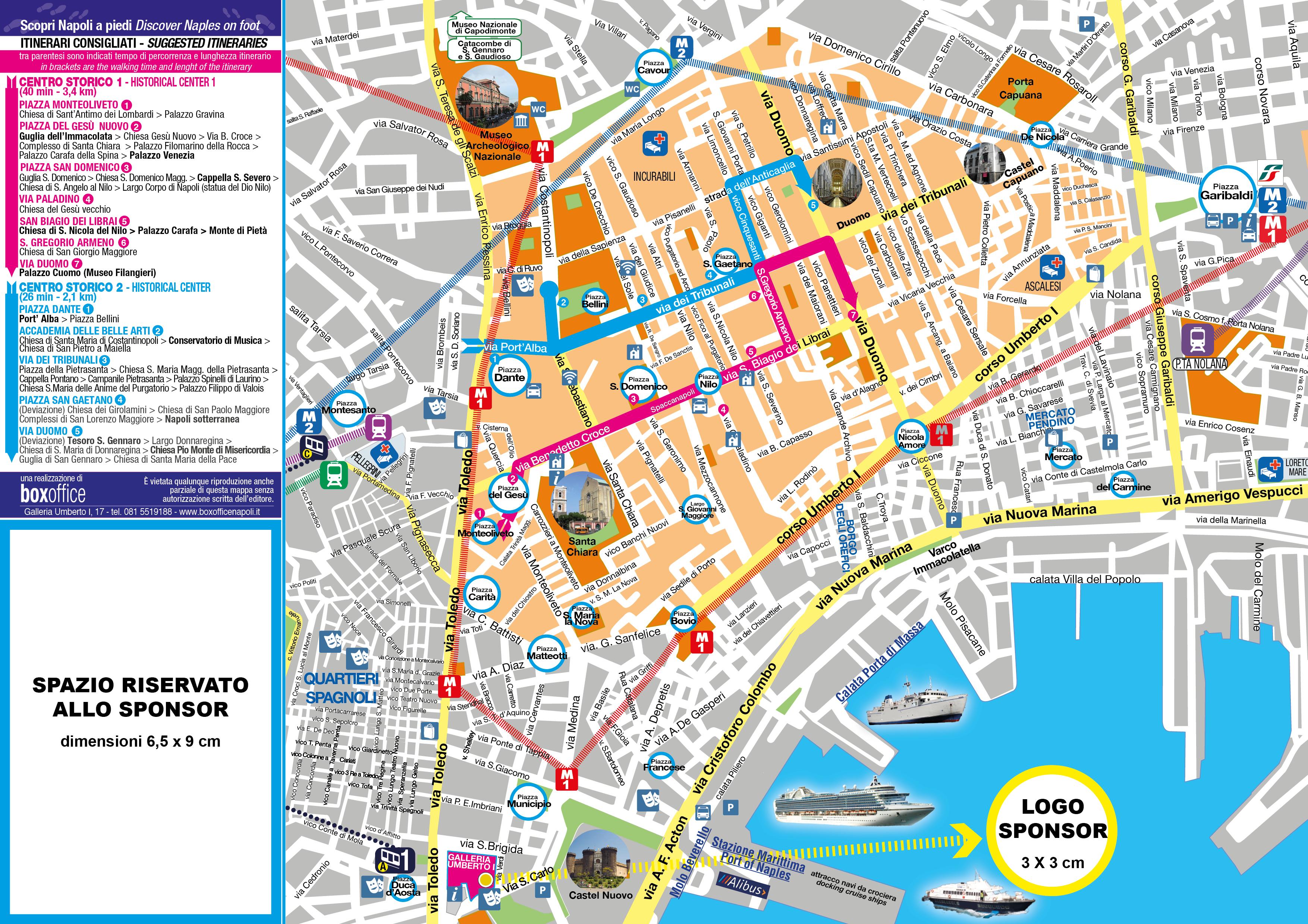 Cartina Turistica Napoli Centro.Mappa Centro Storico A4 2019 Sito Box Office Napoli